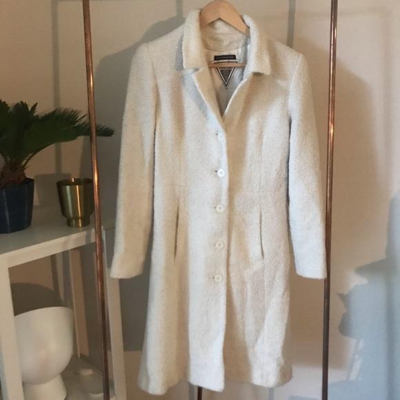 Marvin Richards Jackets & Blazers - Marvin Richards Vintage White Wooly Long Coat M